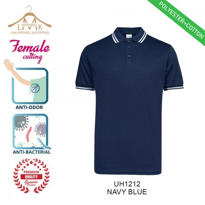 ✅ Ultifresh【Ladies】Pique FD Twin Tipped Uniform Casual Polo shirt - Polyester + Cotton UH12│@LMK APPAREL