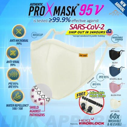 ⚡ LMK【 PROXMASK95V 】3D contour 6x layer Protective Washable & Reusable Face Mask with build in BFE PFE95 HeiQ filter