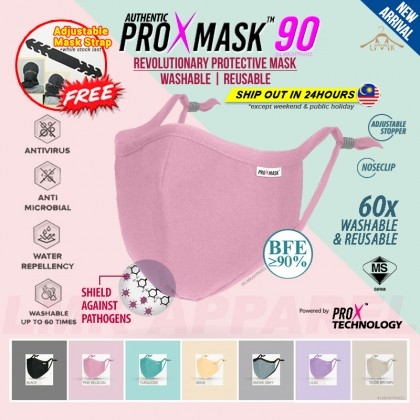 ⚡ LMK【 PROXMASK90 】3D contour 5ply Protective Washable & Reusable Face Mask with build in BFE90 washable filter