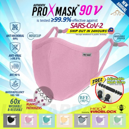 ⚡ LMK【 PROXMASK90V 】3D contour 5x layer Protective Washable & Reusable Face Mask with build in BFE90 filter